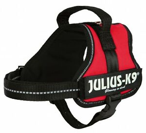 Puppy-Dog-Julius-K9-Red-Adjustable-Harness-w-Reflective-Stripes-High-Quality