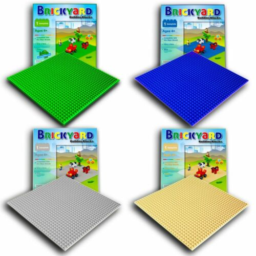 4 Baseplates 10 x 10 Large Thick Base Plates for Building Improved Design