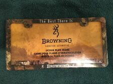 BROWNING SIGNATURE AUTOMOTIVE CAMO LICENSE PLATE FRAME new The Best There Is