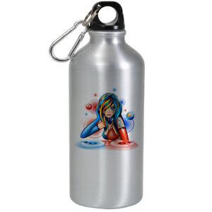 Dj Anime Beautiful Girl Aluminium Water Bottle Drink Flask Sport Hiking School