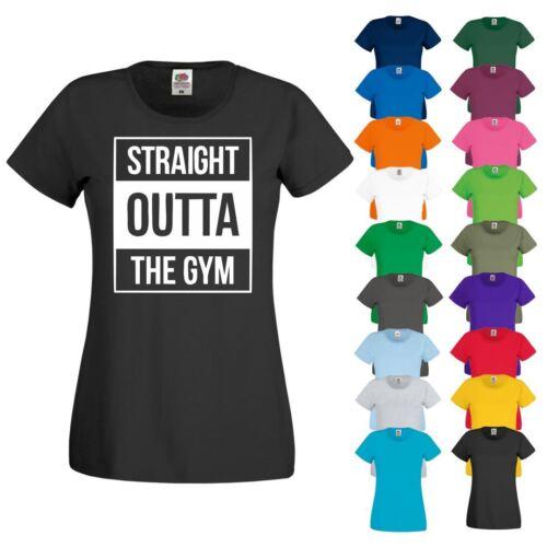 T-shirt Straight Outta Gym Yoga Running Exercice Athlétique Femme Nouveau Haut Femme