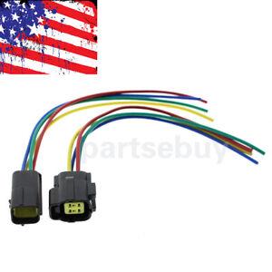 oxygen sensor female & male connector wire kit 4-way for nissan infiniti  subaru | ebay  ebay