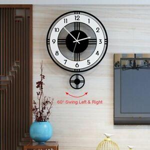 Pendulum-Wall-Clock-Silent-Modern-Design-Battery-Operated-Quartz-Hanging-Watches