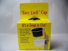 "BIRD CAGE, DOG CRATE WATER-FOOD CROCK 20 Oz. BLACK ""Easy Lock"" CUP"