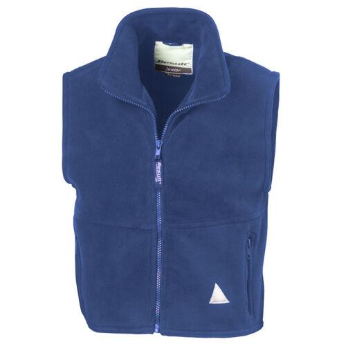 Result RE37J Junior PolarTherm Bodywarmer Kids Heavy Active Fleece Half Jackets