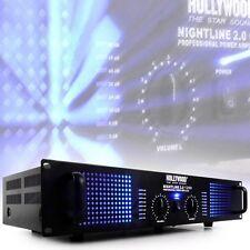 2400 Watt DJ Verstärker Musik-Equipment PA-Endstufe Party Nightline 2.0 1200bl
