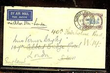 MALAYA KEDAH (P1012B) 1935 25C COW A/M COVER TO LONDON MISS BACKFLAP COPY 1
