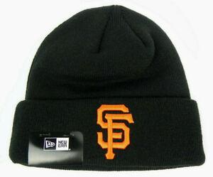 SAN FRANCISCO GIANTS NEW ERA MLB BLACK CUFFED KNIT WINTER BEANIE CAP HAT NEW!