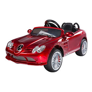 New kids mercedes benz electric ride on car power wheel w for Red mercedes benz power wheels