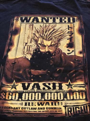 Vintage 2003 Trigun Shirt Anime Vash The Stampede