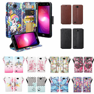 big sale 88805 0ed73 Details about LG X Power 2, LG X Charge, Fiesta LTE, Leather Magnetic Fold  Wallet Case Cover