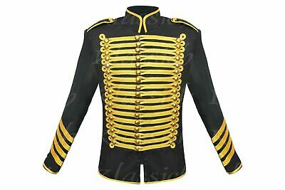 Tan Brown Gothic Military Men/'s Jacket Top Steampunk