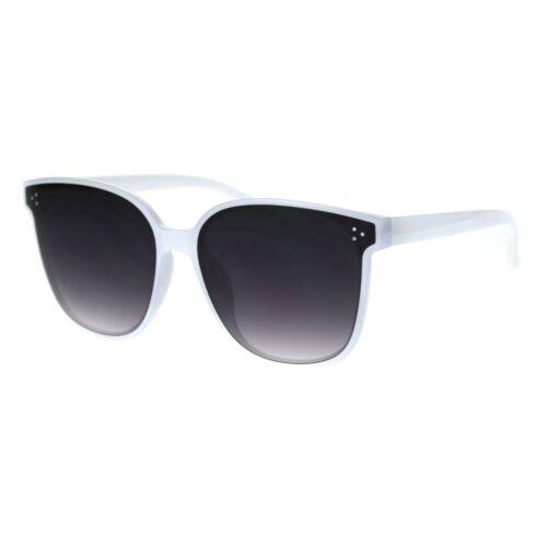 Womens Panel Lens Horn Rim Boyfriend Style Plastic Sunglasses