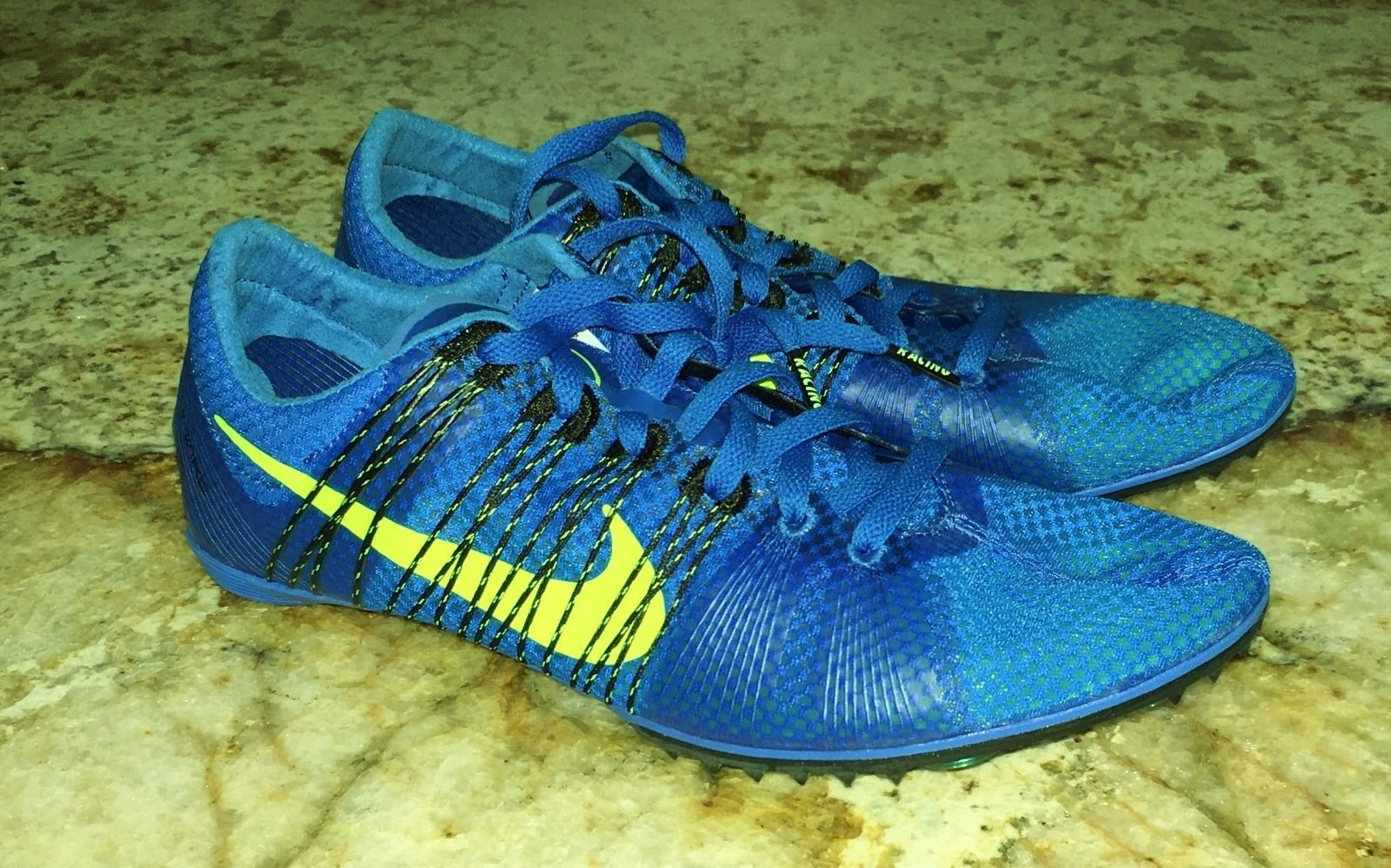 NIKE Victory 2 Blue Volt Mid Distance Track Spikes Shoes MENS 6.5 10.5 11.5 14