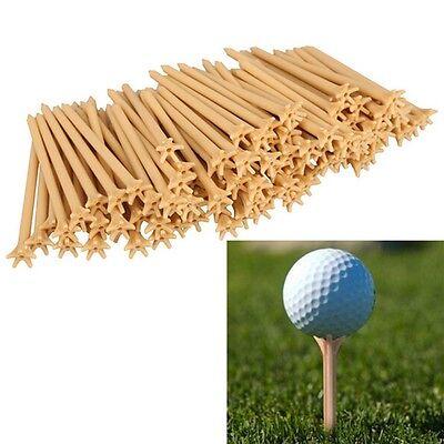 100 Pcs Pack Professional Frictionless Golf Tee Wheat Golf Tees Plastic 70mm Kd