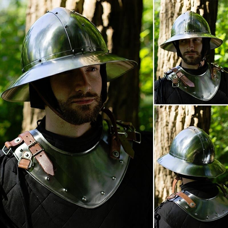 Medieval Kettle Helmet. Perfect for Stage, Costume, LARP or Re-enactment