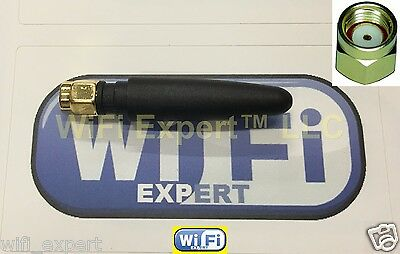 """New .5dbi 1/"""" Angle 2.4GHz 5GHz Dual Band WiFi Antenna RP-SMA Linksys D-Link"""