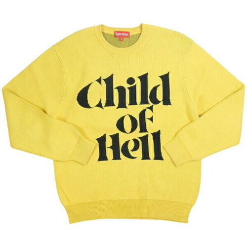 SUPREME 15AW Child Of Hell Sweater YELLOW S