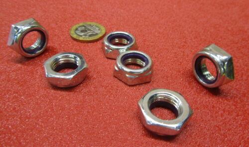 "Nylon Insert Lock Hex Nuts RH 100Pc Grade 2 Zinc Plate 1//2/""-20 x 5//16/"" H"