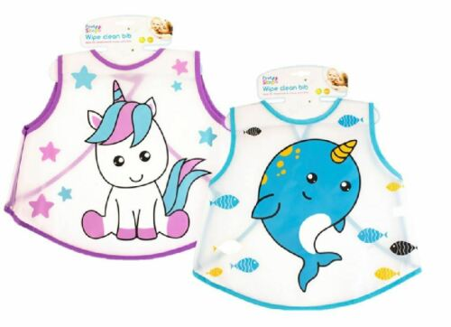 Toddler Essuyez Bib désordonné Repas Licorne baleine garçon fille