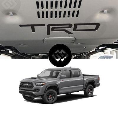 TRD PRO Skid Plate INLAY DECAL SET Toyota Tacoma 2016-2018 Premium Matte Black