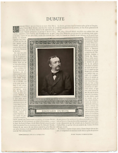 Galerie contemporaine, Edouard Dubufe vintage print, Fils du peintre Claude-Ma