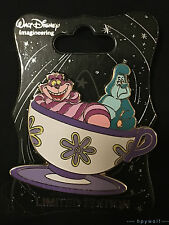 WDI Disney Cheshire Cat & Caterpillar Alice Teacup Mad Tea Party LE 250 Pin cup