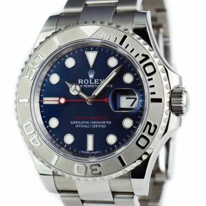 Rolex-40mm-Platinum-amp-Stainless-Steel-YachtMaster-Blue-Index-116622-SANT-BLANC