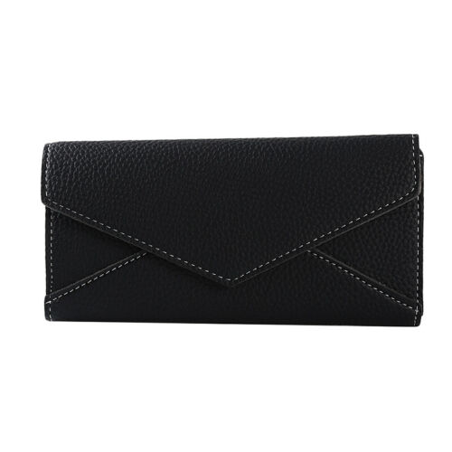 Women Clutch Wallet Long Coin Purse Card Phone Holder Faux Leather Handbag IT