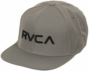 Image is loading RVCA-Mens-Twill-Mid-Fit-Snapback-Hat-Pavement- becf3b512afe