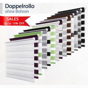 Details zu Rollos ohne Bohren Duo Rollo Doppelrollo klemmfix Fensterrollo  Seitenzugrollo