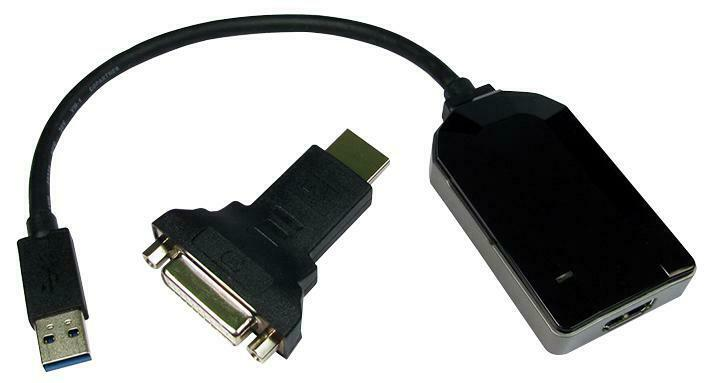 ADAPTER, USB3.0-HDMI + DVI-D, CONVERT FROM USB 3.0, CONVERT TO HDM FOR UNBRANDED
