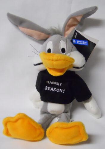 1998 Warner Bros Studio Store Rabbit Season Bugs Bunny Mini Bean Bag-Beanie
