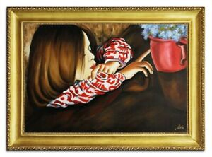 Oil-Painting-Pictures-Hand-Painted-with-Frame-Baroque-Art-G96473