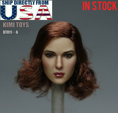 "1//6 female head sculpt short hair YMT016 B for Hot toys Phicen 12/"" figure ❶USA❶"