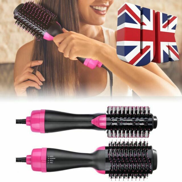 2 in 1 Hair Blow Dryer Brush Comb Hot Air Drying Styler Shinier Styling Tool NEW
