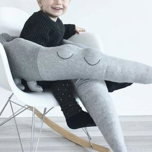 185cm Baby Kids Plush Crib Bumper Bed Bedding Cot Crocodile Pillow Protector UK