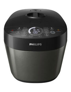 Philips Deluxe All-In-One Cooker: Metal Black HD2145/72