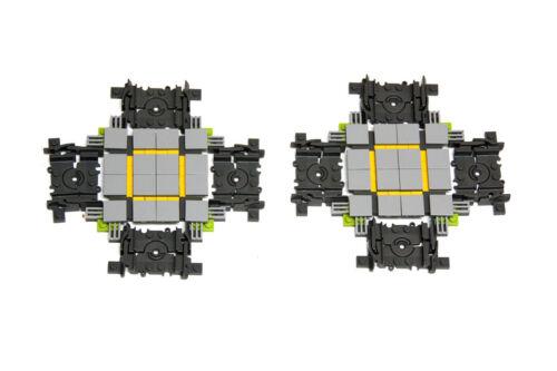 2 x LEGO City Custom Made Cross Track For Train Railroad Crossing Like 4519