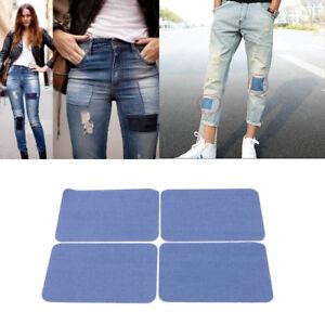 4x Jeansflicken Aufbügeln Patch Bügelflicken Jeans ausbessern Flicken Aufbügler