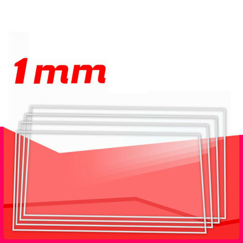 Clear Acrylic PMMA Cut Sheet 1mm Thickness Plastic Panel 100x100mm Various Sizes