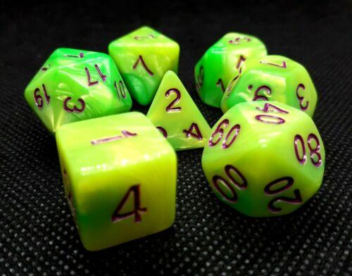 RPG Würfel Set 7-teilig Poly DND Rollenspiel w4-w20 dice4friends Brettspiel