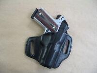 Para Ordnance Executive Carry Owb Leather 2 Slot Molded Pancake Belt Holster Blk