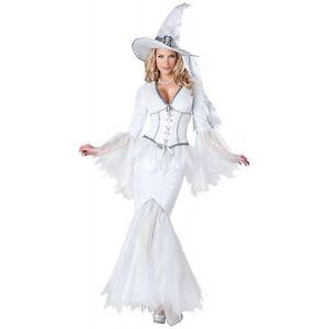 White Witch Costume Adult Good Witch Halloween Fancy Dress | eBay