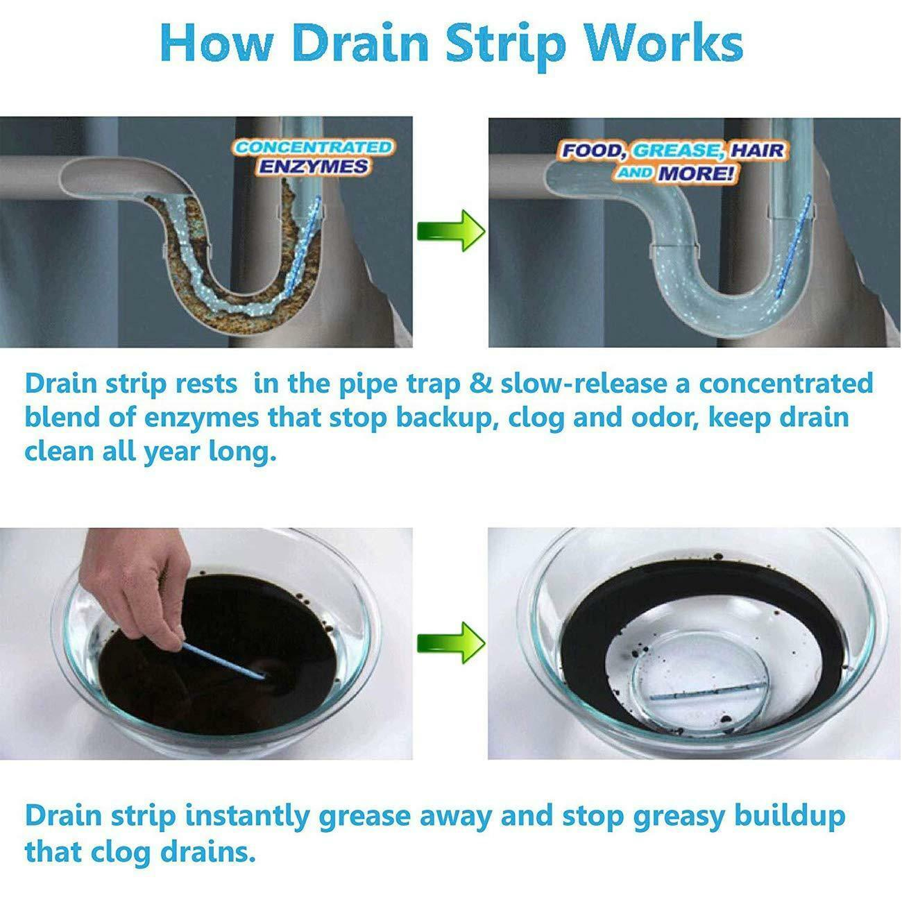 Ampe Sticks Drain Cleaner Sticks  Drains Pipes Clear