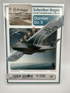 Avion-Dornier-DO-X-maquette-a-monter-en-carton-longueur-40cm-belle-qualite