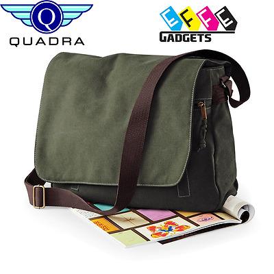 QUADRA VINTAGE CANVAS Messenger Bag Borsa a Tracolla Borse a tracolla unisex colori 3