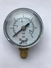 2 Inch Pressure Gauge 1//8 BSP Bottom Entry 50mm dial 0-200 ps