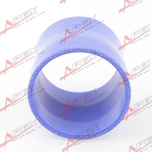 """3Ply 2.5/"""" To 2/'/' inch Straight Reducer 76.2mm Silicone Hose Coupler Pipe Blue"""