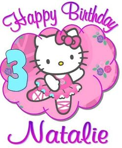 Image Is Loading HELLO KITTY HAPPY BIRTHDAY T SHIRT Personalized Any